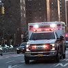 NEW YORK - March 27, 2020: for NEWS. A convoy of ambulances arrive to back up a Mount Sinai EMS crew who were grappling with a physical EDP amid the COVID-19 Coronavirus pandemic. nypostinhouse (Photo by: Taidgh Barron/NY Post)