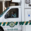NEW YORK - March 19, 2020: for NEWS.  A SeniorCare EMS Basic Life Support ambulance staffed with EMTs amid the COVID-19 coronavirus pandemic.  nypostinhouse (Photo by: Taidgh Barron/NY Post)