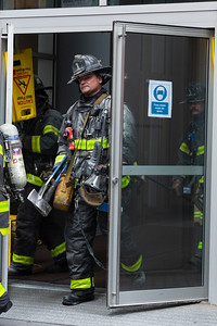 NEW YORK - June 19 2020: for NEWS. FDNY firefighters battle a stubborn high rise fire on the 24th floor of 52 Broadway, the UFT building, in the Financial District.  Nypostinhouse (Photo by: Taidgh Barron/NY Post)