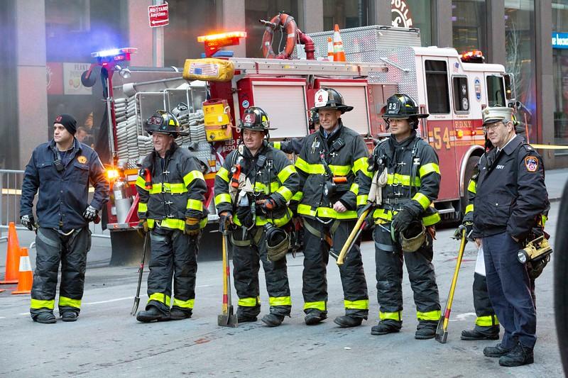 NEW YORK - December 3, 2019: for NEWS. MANHOLE FIRE!!!!! AHHHHHHHHHH!!!!! 137 W 48th Street  (Photo by Taidgh Barron/NY Post)