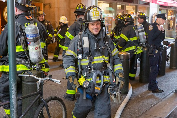 NEW YORK - March 16, 2020: for NEWS. FDNY Firemen respond to a call of a fire in the duct work of Grand Central Terminal. (Photo by: Taidgh Barron/NY Post)