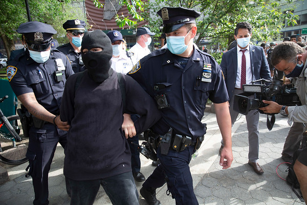 NEW YORK - May 28, 2020: for NEWS. Dozens of anti-police protesters were arrested by the NYPD Strategic Response Group amid protests against the police involved death of George Floyd in Minneapolis amid the COVID-19 coronavirus pandemic.  nypostinhouse (Photo by: Taidgh Barron/NY Post)