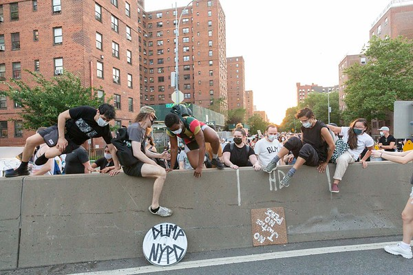 NEW YORK - June 56 2020: for NEWS. Peaceful Black Lives Matter protesters march on the FDR Drive past the mayor's 8 p.m. curfew to protest NYPD police brutality in mass demonstrations spurred by the police involved killing of George Floyd.  nypostinhouse (Photo by: Taidgh Barron/NY Post)