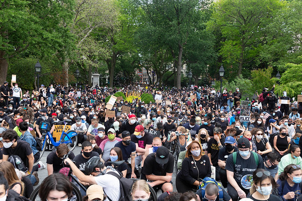 NEW YORK - June 2, 2020: for NEWS. A massive gathering of peaceful protesters demonstrating against police brutality marched from Washington Square Park to Gracie Mansion amid violent riots and looting spurred by the police involved killing of George Floyd.  nypostinhouse (Photo by: Taidgh Barron/NY Post)