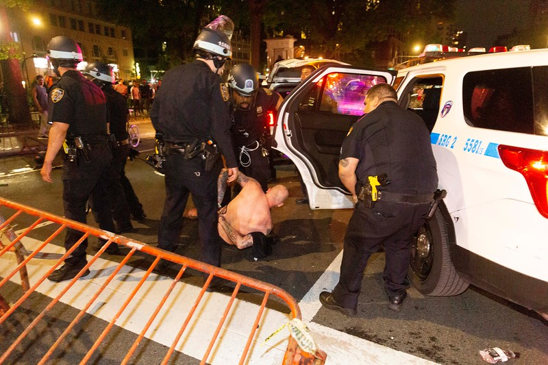 NEW YORK - May 30, 2020: for NEWS. Riots broke out against the NYPD in Manhattan after protests against the police involved death of George Floyd in Minneapolis turned violent amid the COVID-19 coronavirus pandemic.  nypostinhouse (Photo by: Taidgh Barron/NY Post)