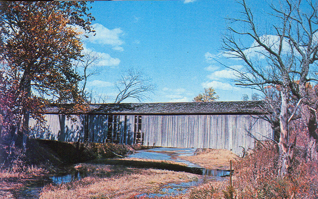 Adam's Mill Covered Bridge, Parke County, Indiana.  This bridge was located about one mile north of the State Sanitorium Bridge.