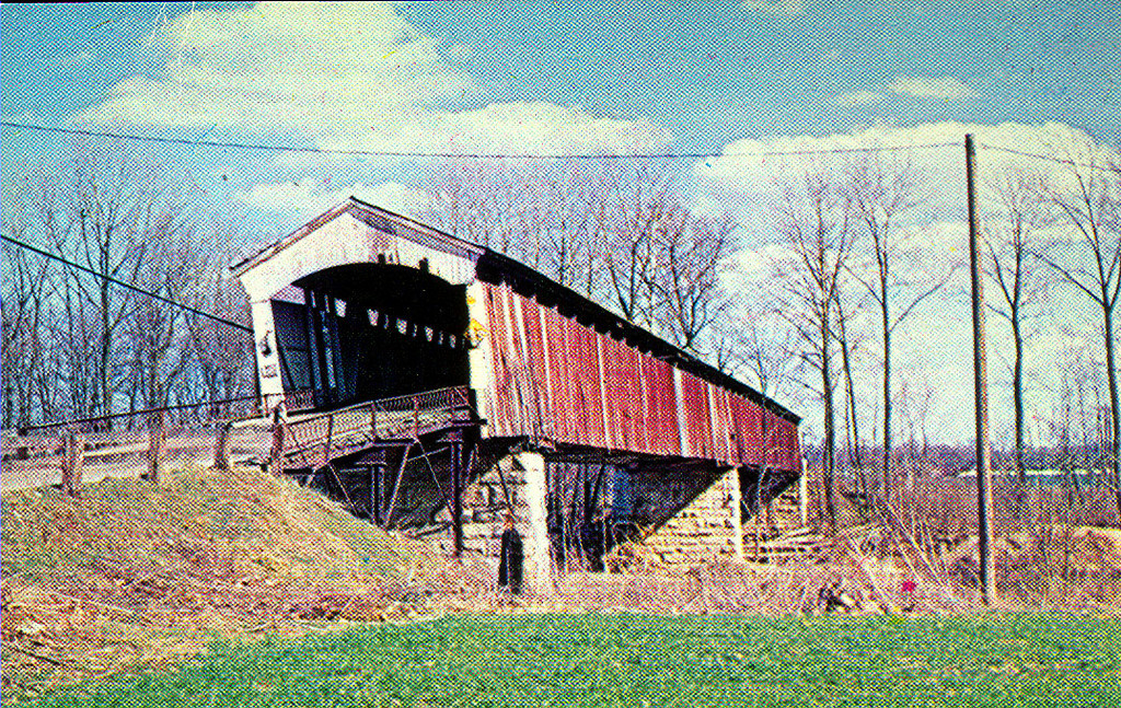 Bell's Ford Covered Bridge postcard view.