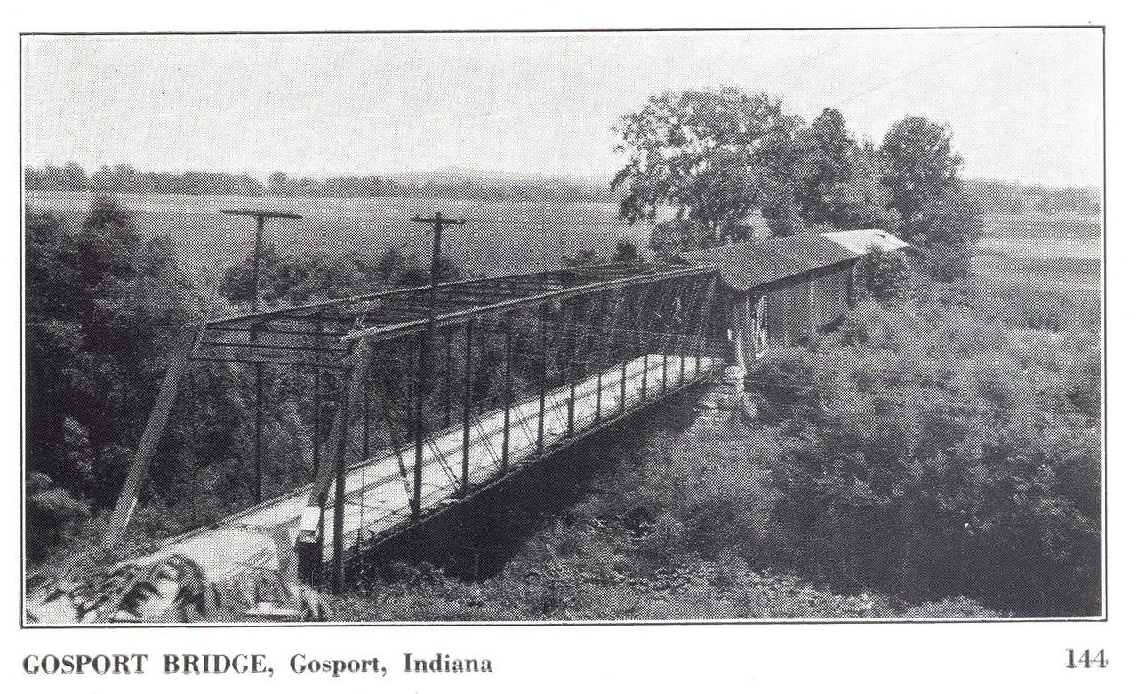 Postcard of the Gosport Covered Bridge.
