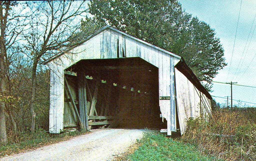 Harshbarger Covered Bridge, Montgomery County, Indiana.