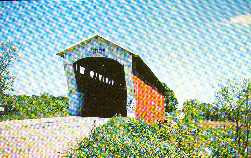 Houlton Covered Bridge, Dekalb, Indiana.  Destroyed by fire in 1963.