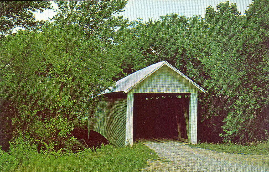 Kessner Covered Bridge crossed the Patoka River.