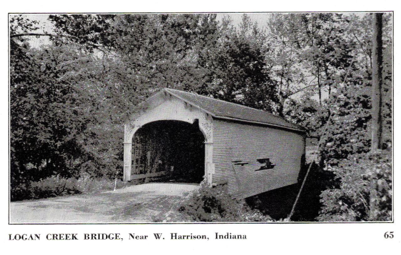 Logan Creek Covered Bridge, West Harrison, Indiana.