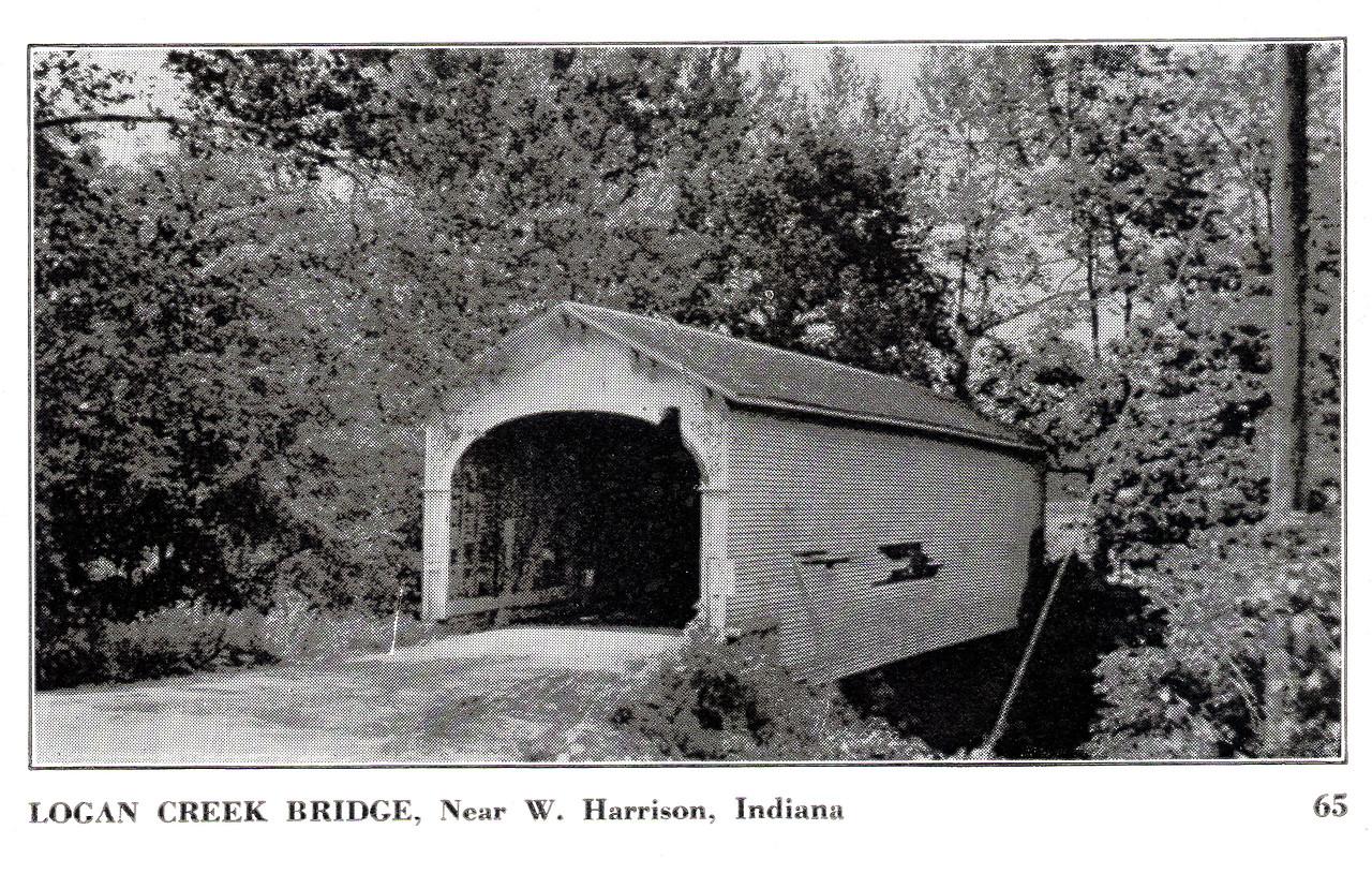 Logan Creek Covered Bridge, West Harrison, Indiana.