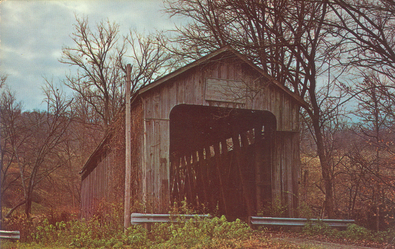 Lower Blue Creek Covered Bridge, Franklin County, Indiana near Brookville.