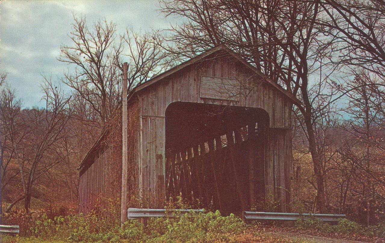 Lower Blue Creek Covered Bridge, Franklin County, Indiana near Brookville.