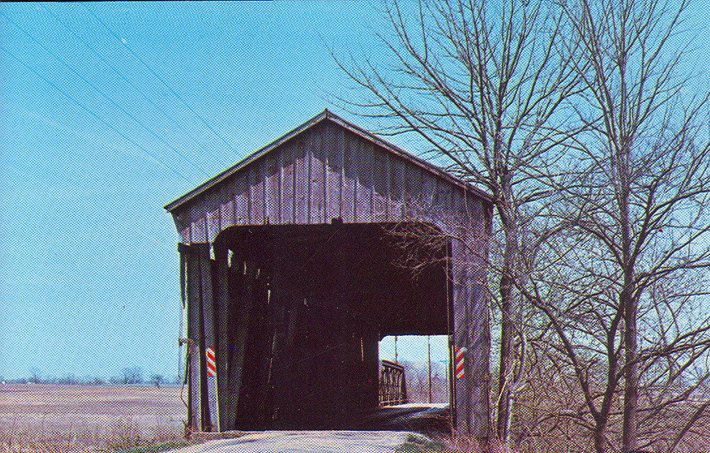 Parker Covered Bridge on the Putnam Morgan County, Indiana line.