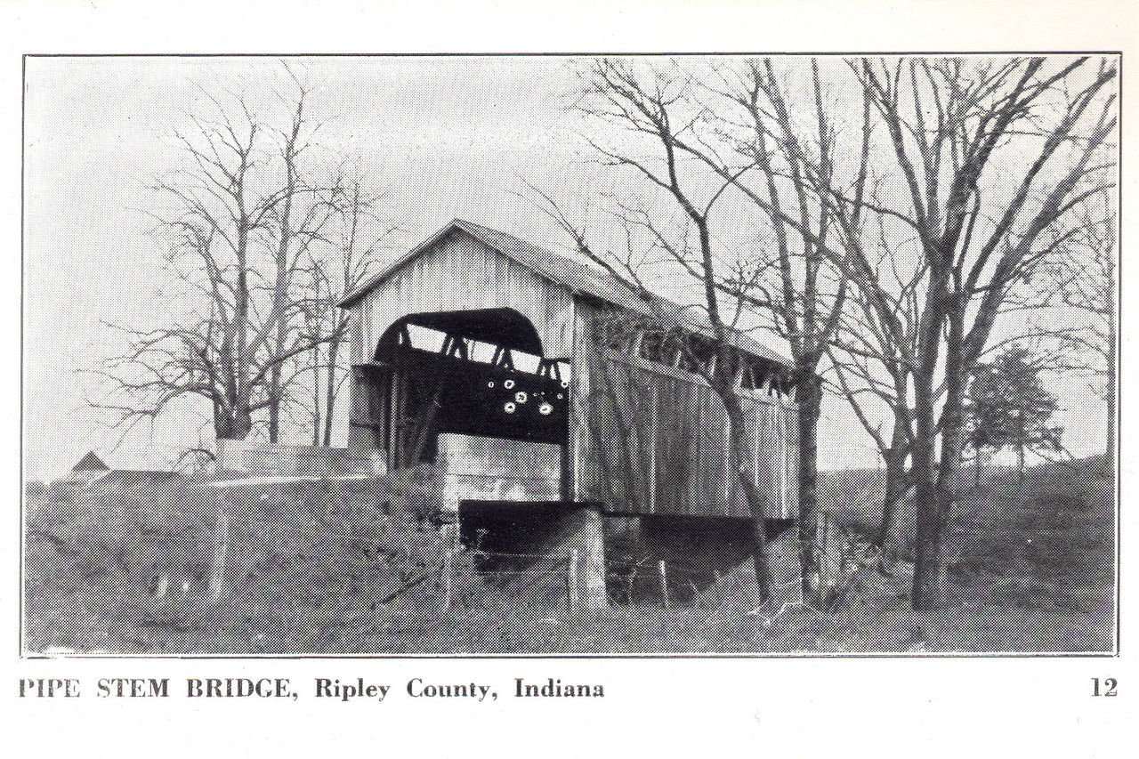 Pipe Stem Covered Bridge, Ripley County, Indiana.