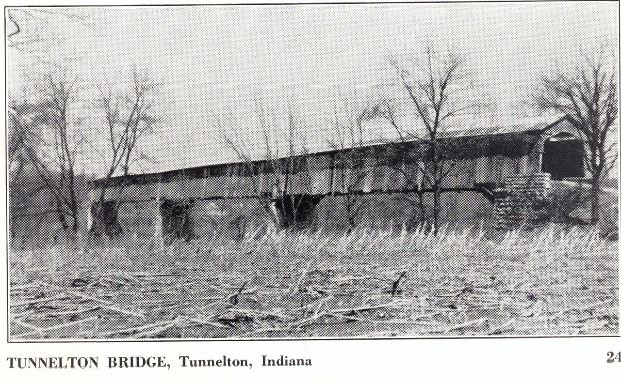 Tunnelton Covered Bridge, Tunnelton, Indiana.