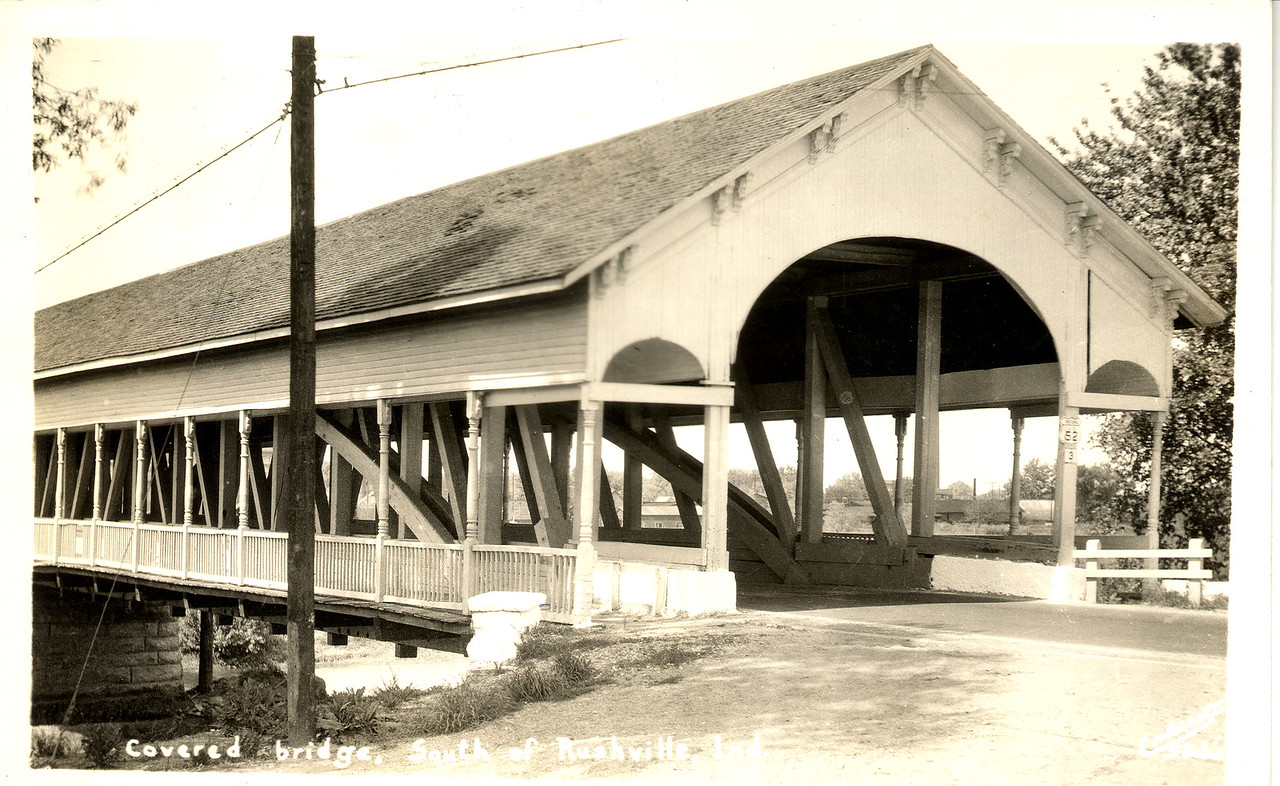 The Vine Street Covered Bridge in Shelby County, Indiana was located in Shelbyville.