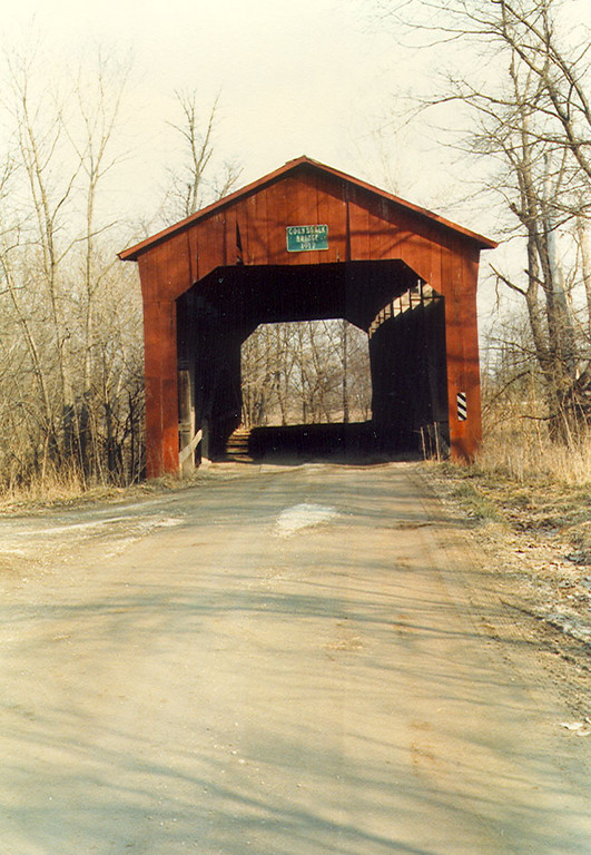 Cornstalk Covered Bridge, Putnam County, Indiana.  Photographed March 1983.