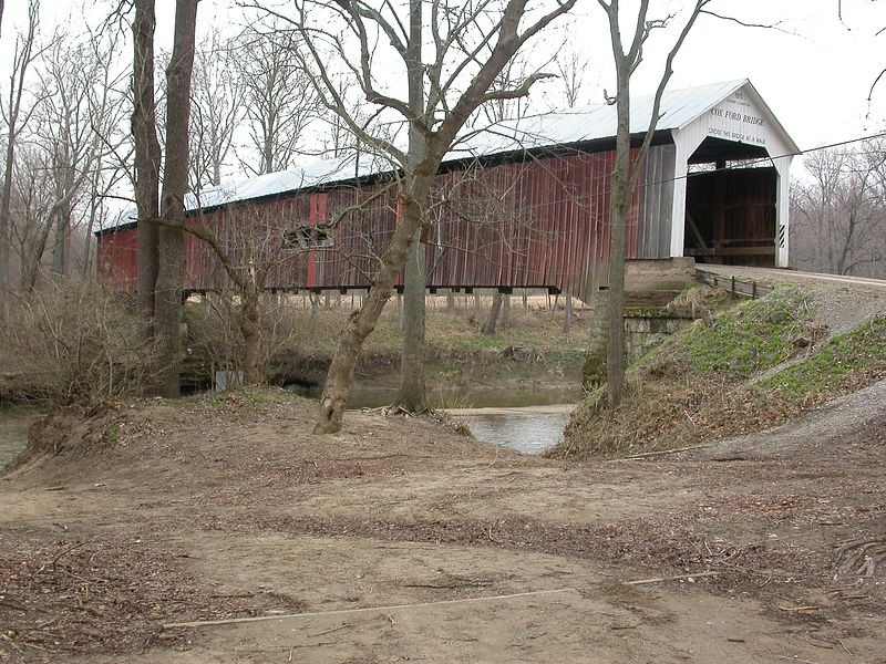 Cox Ford Bridge, Parke County, Indiana March 2004