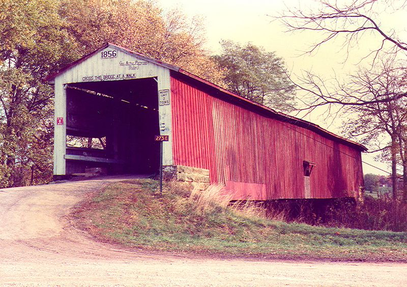 Crooks Covered Bridge, Parke County, Indiana.  Photographed in 1981.