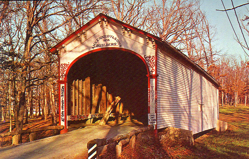 Crown Point Covered Bridge.  Moved from Rush County to Lake County Fairgrounds in 1933.