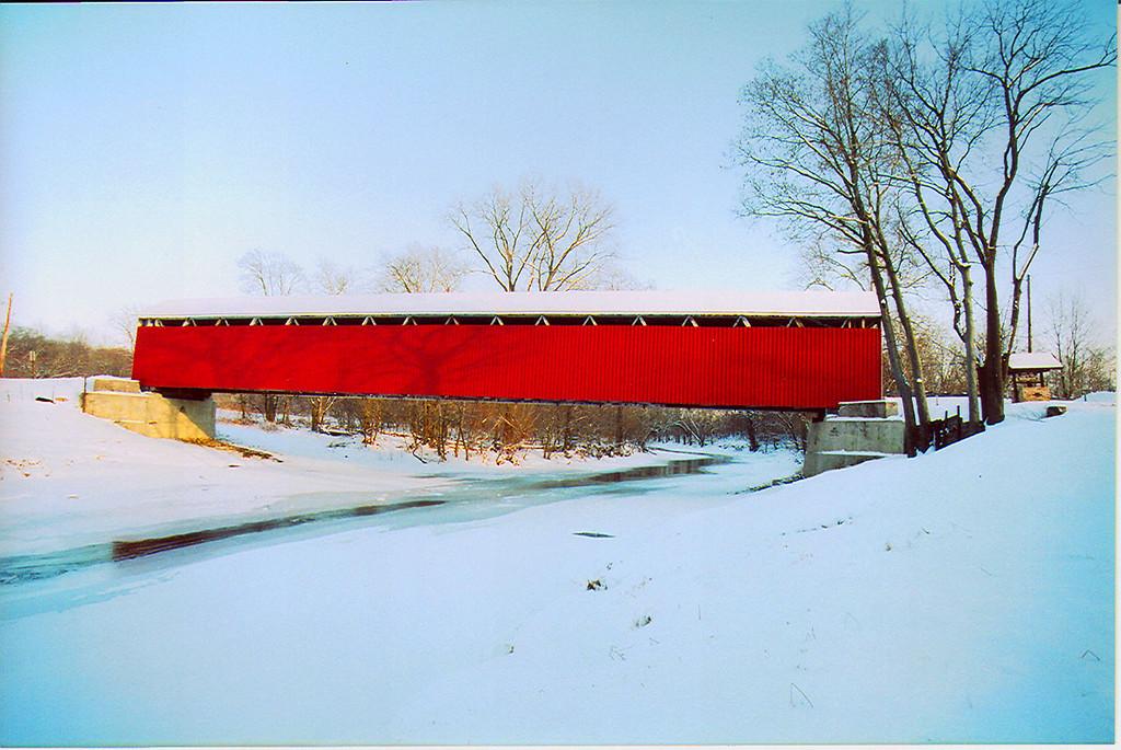 Cumberland Covered Bridge, Grant County, Indiana.