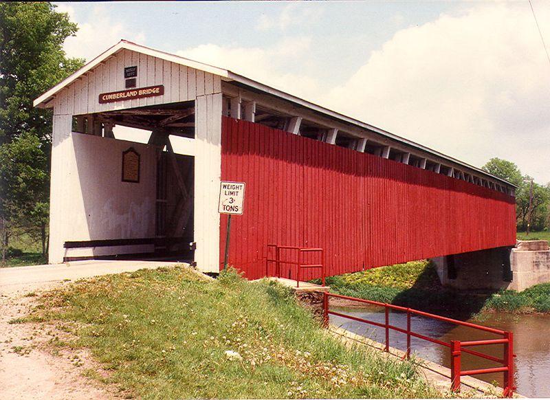 Cumberland Bridge in summer of 1989.