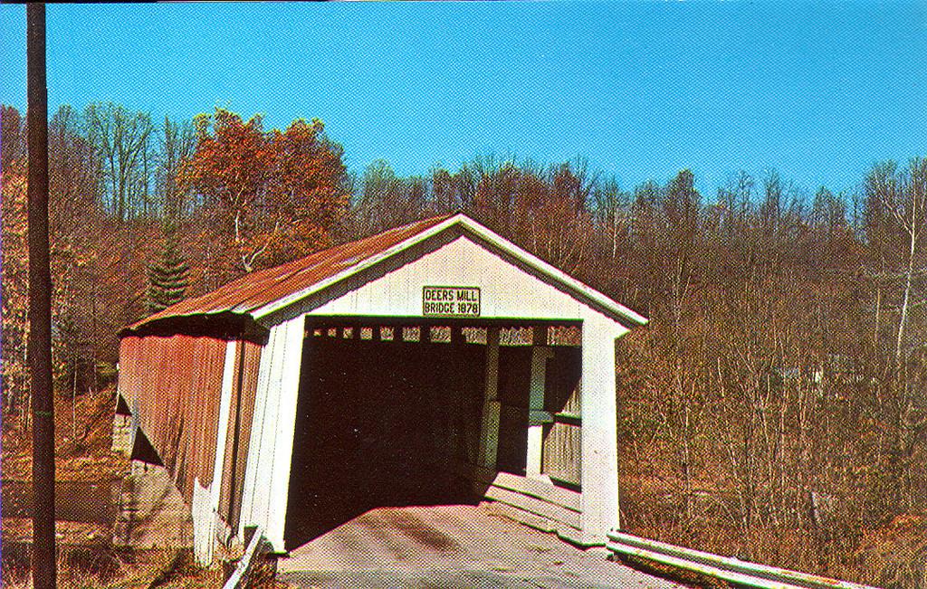 Postcard view of Deers Mill Bridge.