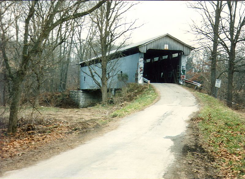 Holton Covered Bridge, Ripley County, Indiana.  Photographed in 1991.