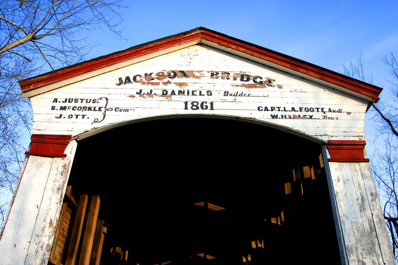 Jackson Bridge, Parke County, Indiana.  Photographed March 2005.