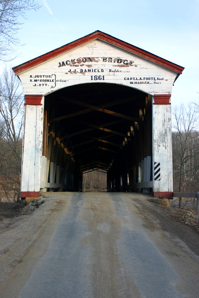 Jackson Covered Bridge, Parke County, Indiana.  Photographed March 2005.
