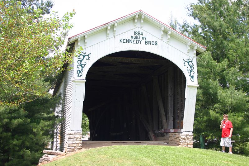 Longwood Covered Bridge, June 3, 2005.