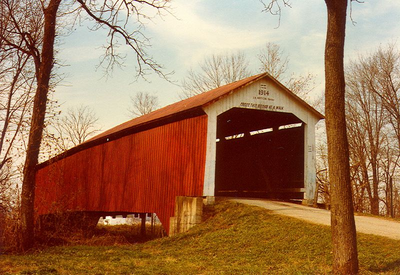 McAllister's Covered Bridge, Parke County, Indiana.  Photographed in 1981.