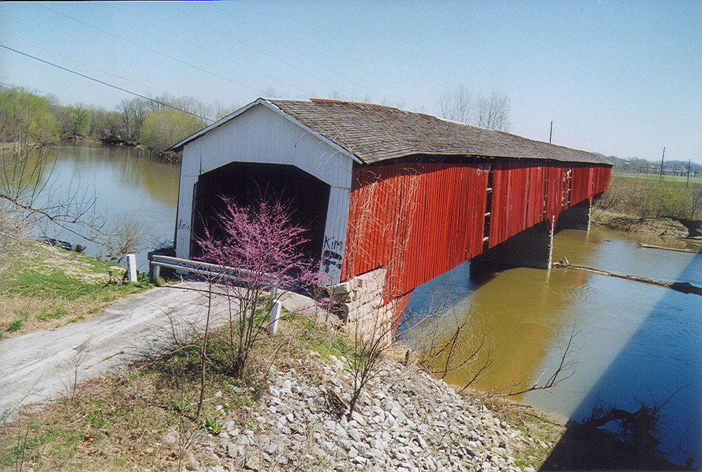 Medora Covered Bridge, Jackson County, Indiana.  Photographed in April 1999.