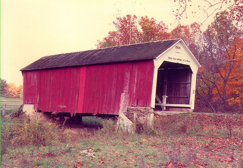 Phillips Covered Bridge, Parke County, Indiana.  Photographed in 1980.