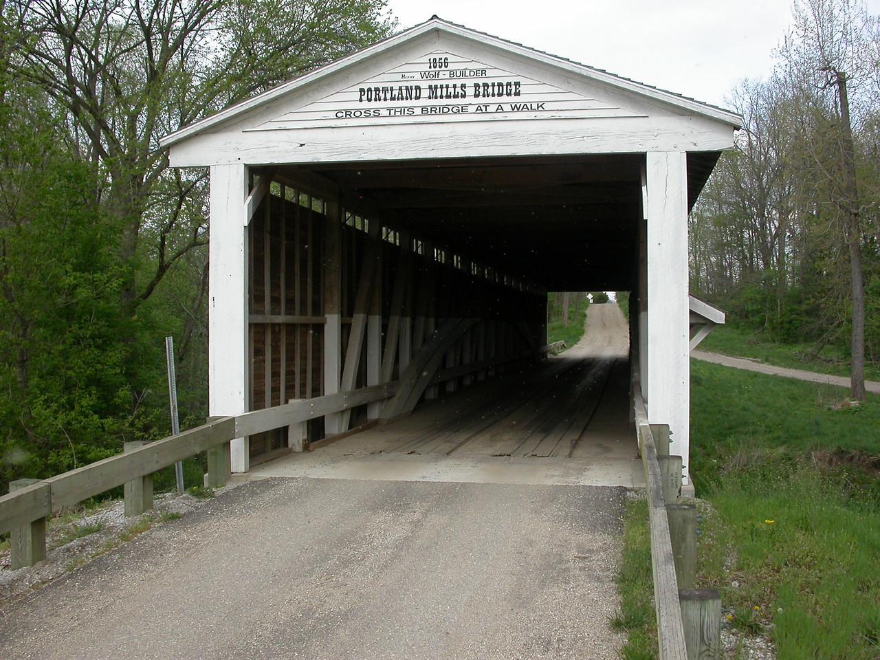 Portland Mills Covered Bridge, Parke County, Indiana, April 2004