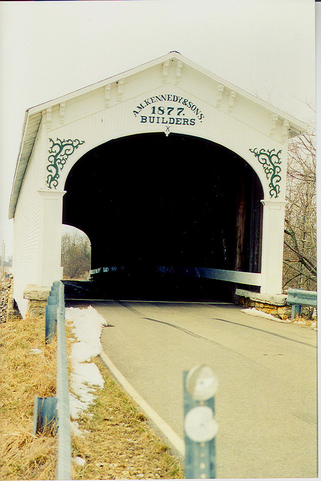 The saved Smith Bridge photographed in 1999.  Fully restored.