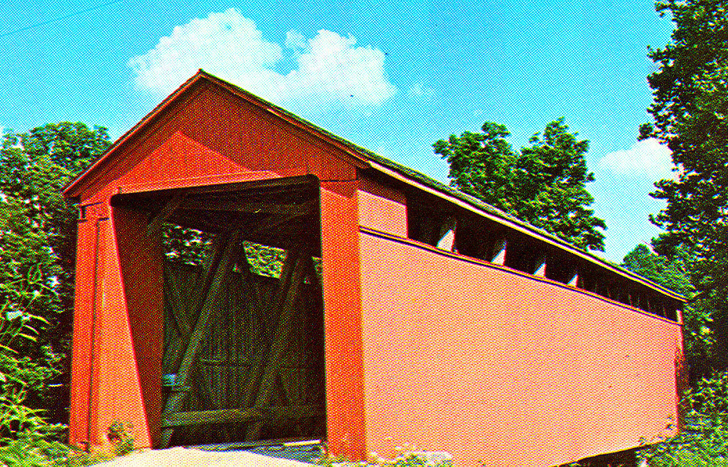 Stockheuter, aka Old Enochsburg Covered Bridge, Franklin County, Indiana.