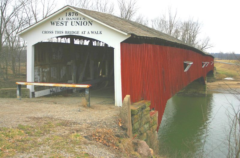 West Union Covered Bridge, Parke County, Indiana.