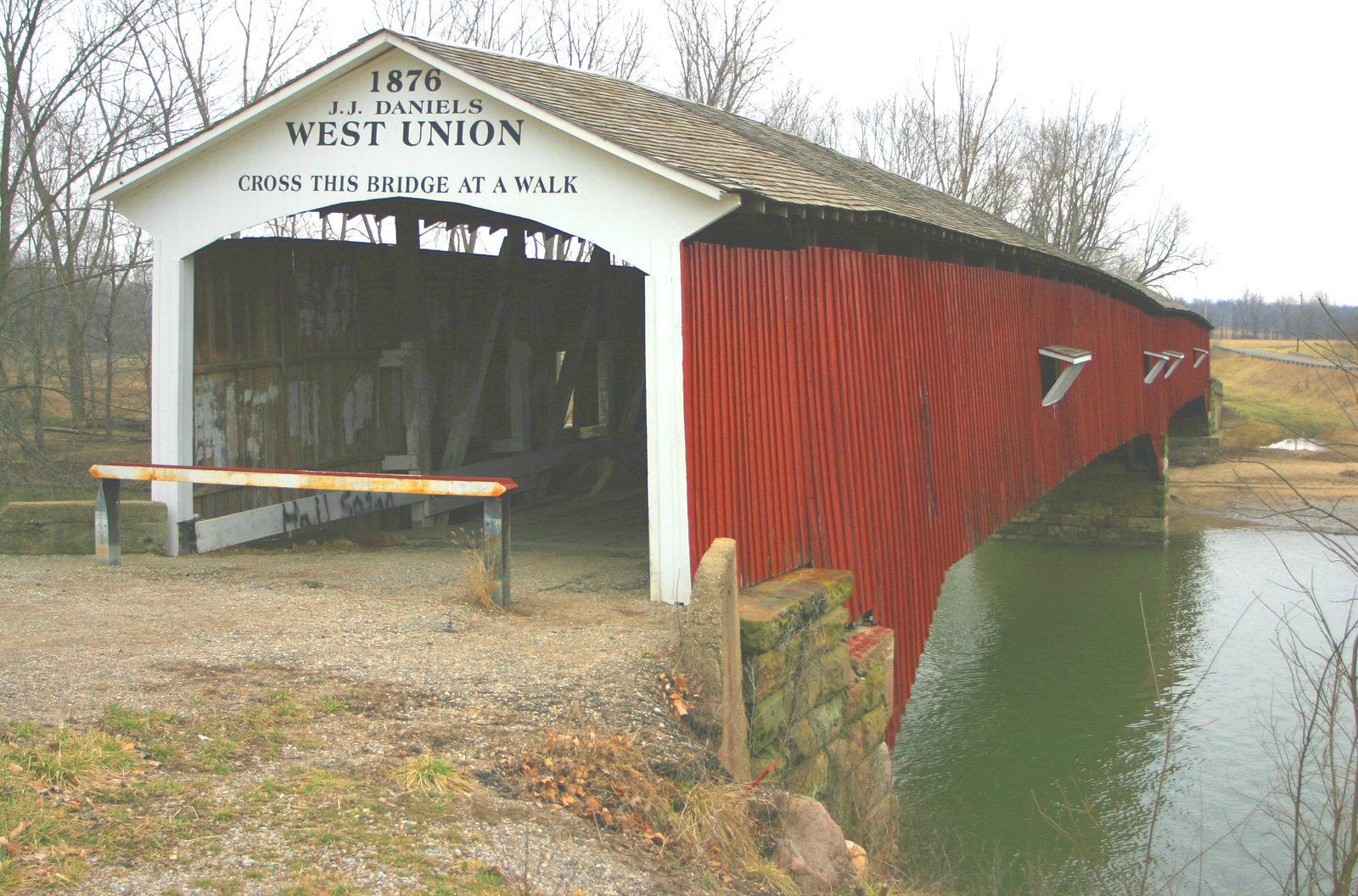 West Union Covered Bridge, Parke County, Indiana.