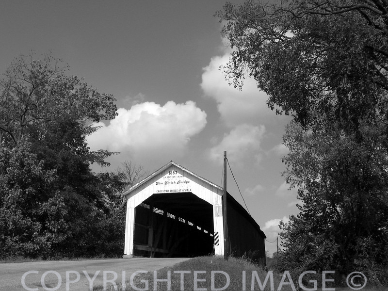 Sim Smith covered bridge in Parke Co., IL