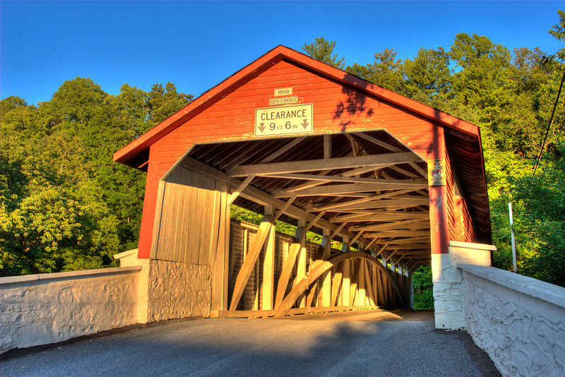 Guth's Covered Bridge (HDR)<br /> Jordan Creek SWT, PA<br /> <br /> © WEOttinger, The Wildflower Hunter - All rights reserved<br /> For educational use only - this image, or derivative works, can not be used, published, distributed or sold without written permission of the owner.