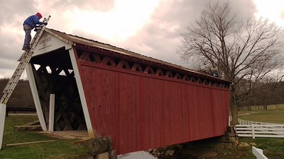 Roof Replacement at Harmon Covered Bridge