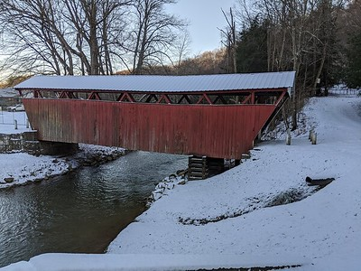 Winter Scene at Kintersburg Covered Bridge