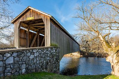 Pinetown Covered Bridge Crossing the Conestoga Creek