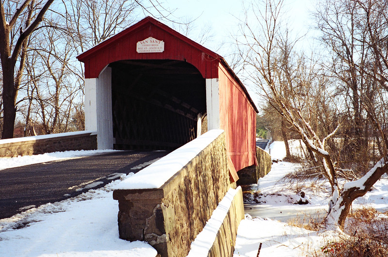 Van Sant Covered Bridge Photograph