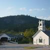 Stark New Hampshire Old Church Covered Bridge Picture