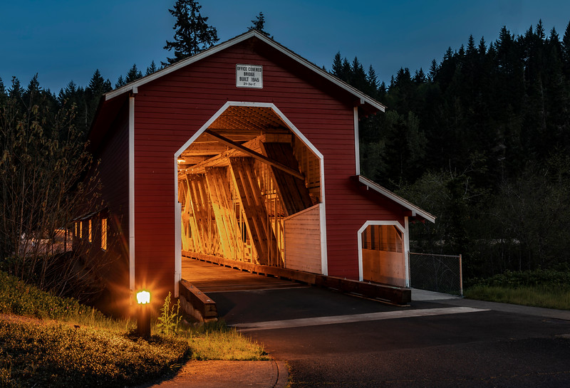 OR Office Bridge at night